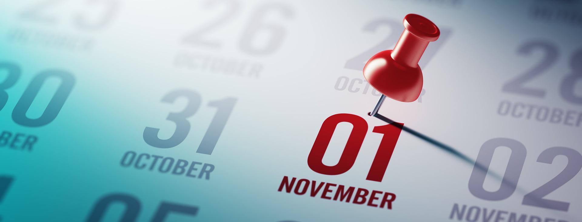 November 1 due date